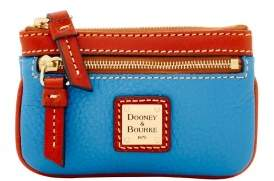 Dooney & Bourke Pebble Grain Small Coin Case - AZURE - STYLE