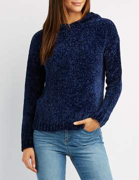 Charlotte Russe Chenille Hooded Sweater