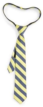 Nordstrom Boy's Stripe Silk & Cotton Zip Tie