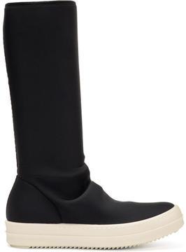 Rick Owens Black Vegan Sock Boots