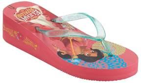 Disney Disney's Elena of Avalor Girls 4-16 Wedge Flip Flops