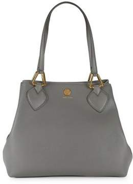Anne Klein Hinged Leather Hobo Bag