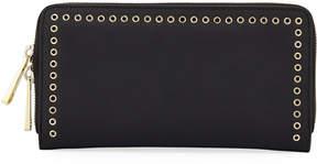 Zac Posen Earthette Micro-Grommet Wallet, Black