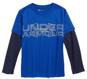 Under Armour Toddler Boy's Wordmark Slider Layered T-Shirt