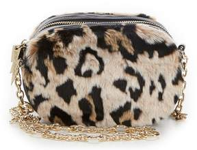 Betsey Johnson Faux-Fuh Convertible Belt Bag