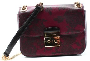 Michael Kors Sloan Lace Medium Chain Shoulder Bag in Cherry - RED, CHERRY - STYLE