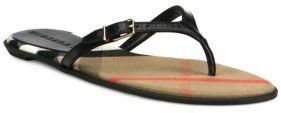 Burberry Meadow Leather Flip Flops