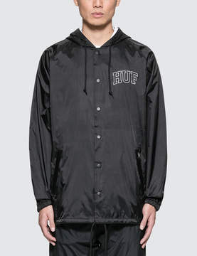 HUF Arch Black Hooded Coach Jacket