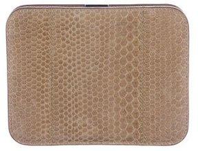 Jil Sander Embossed Leather Frame Wallet