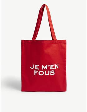 Zadig & Voltaire Cotton slogan tote bag