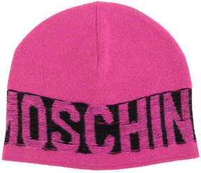 Moschino distressed logo beanie