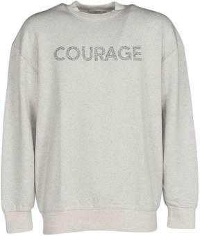 Kitsune Maison Sweatshirt With Printed Slogan