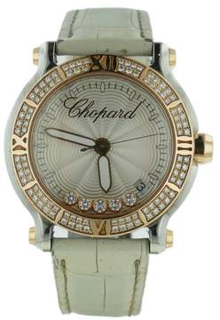 Chopard Happy Sport 278551-6003 18K Rose Gold & Stainless Steel Diamond 36mm Watch