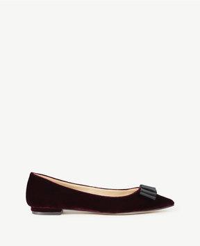 Ann Taylor Penelope Velvet Bow Flats
