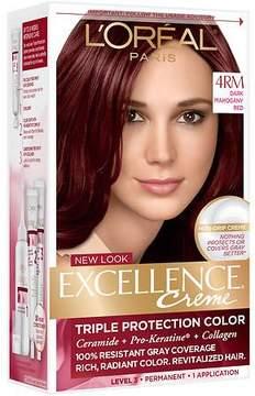L'Oreal Paris Excellence Creme Triple Protection Color Creme Permanent Haircolor Dark Mahogany Red (4RM)