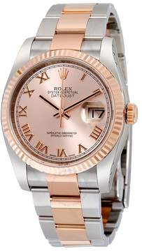 Rolex Oyster Perpetual Datejust 36 Pink Dial Stainless Steel and 18K Everose Gold Bracelet Automatic Men's Watch