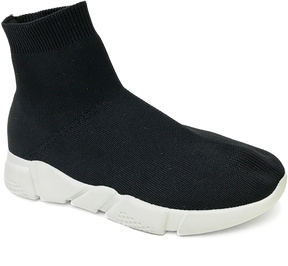 Bamboo Black Flight Slip-On Hi-Top Sneaker
