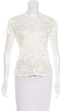 Christian Dior Lace Short Sleeve Top
