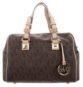 MICHAEL Michael Kors Leather-Trimmed Monogram Satchel