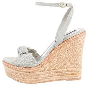 Ralph Lauren Collection Woven Wedge Sandals