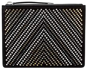 Giuseppe Zanotti Men's Chevron Studs Leather Pouch