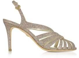 Roberto Cavalli Women's Multicolor Glitter Sandals.