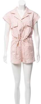 Band Of Outsiders Floral Short Sleeve Romper