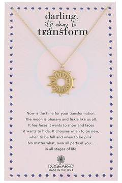 Dogeared Darling It's Okay To Transform, Sun X Moon Coin Charm Necklace Necklace