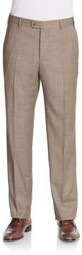 Zanella Men's Flat-Front Wool Trousers