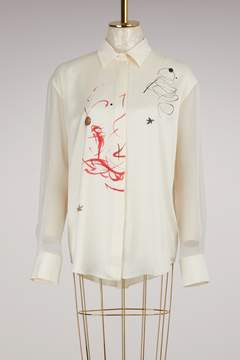 Forte Forte Silk Button-Down Shirt