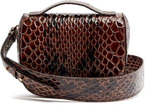 SIMONE ROCHA Snake-effect leather cross-body bag