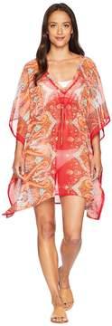 Echo Sea Fan Paisley Silky Caftan Women's Clothing