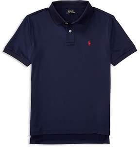 Ralph Lauren Childrenswear Boys' Stretch Lisle Solid Polo Shirt - Big Kid