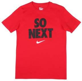 Nike Big Boys' (8-20) So Next Swoosh Graphic T-Shirt-Red-Medium