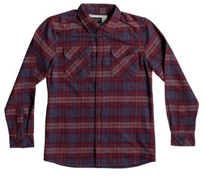 Quiksilver Boy's Fitzspeere Plaid Flannel Shirt
