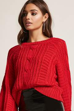 Forever 21 Balloon-Sleeve Fisherman Top