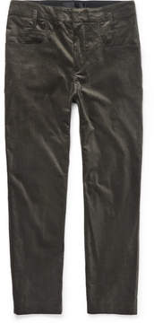 Haider Ackermann Cotton-Blend Velvet Trousers
