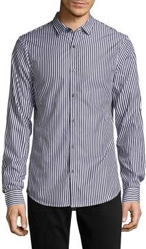 Armani Exchange Men's Gingham Cotton Sportshirt