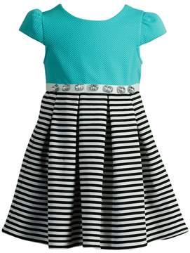Youngland Girls 4-6x Stripe Pleated Dress