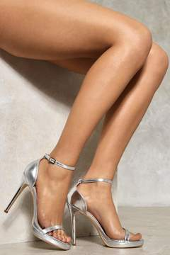 Nasty Gal nastygal Disco Inferno Metallic Heel