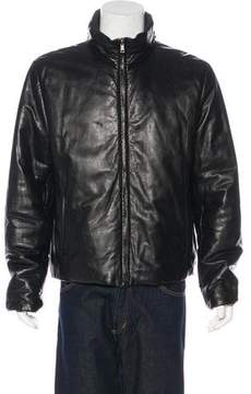 Gucci Leather Reversible Puffer Jacket