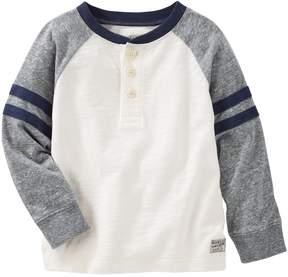 Osh Kosh Toddler Boy Striped & Slubbed Henley