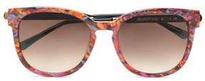 Thierry Lasry Square-Frame Printed Acetate And Gold-Tone Sunglasses