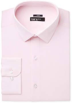Bar III Men's Slim-Fit Stretch Max Pink Basket Dress Shirt, Created for Macy's