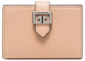 Givenchy beige GV3 logo goat skin cardholder