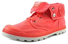 Palladium Baggy Low Lp Women Round Toe Canvas Pink Boot.