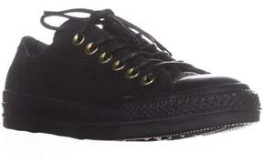 Converse Chuck Taylor All Star Ox Perforated Sneakers, Black/biscuit.
