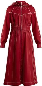 Valentino High-neck jersey dress