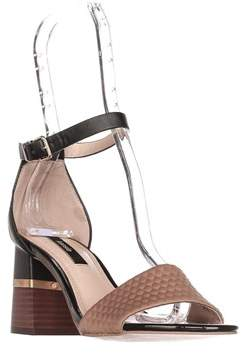 Kensie Estan Ankle Strap Block Heel Dress Sandals, Camel.
