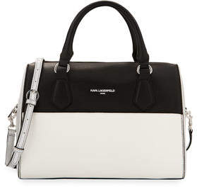 Karl Lagerfeld Paris Winnie Leather Satchel Bag